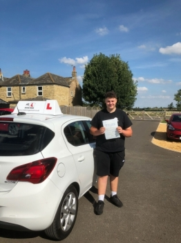 Congratulations to Zak Young from Upware who passed 1st time at Cowley Road in Cambridge on the 21-8-18 with only 1 driving fault after taking driving lessons with MR.L Driving School.