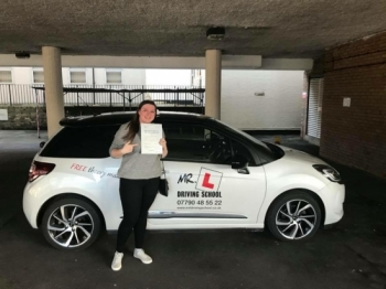 Congratulations to Tori Freestone who passed in Cambridge on the 3-1-18 after taking driving lessons with MRL Driving School