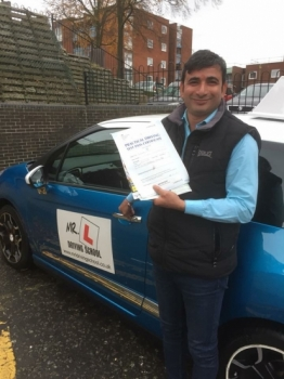 Congratulations to Gajendra Singh from Newmarket who passed with just 3df's on the 16-11-17 in Cambridge after taking driving lessons with MRL Driving School