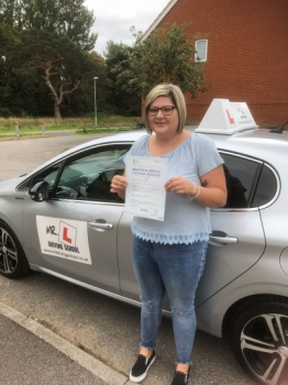 Congratulations to Yasmin Deller from Mildenhall who passed in Cambridge on the 28-8-18 after taking driving lessons with MR.L Driving School.