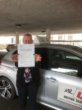Congratulations to Dawn Tudor from Newmarket who passed 1st time in Cambridge on the 29-8-18 after taking driving lessons with MR.L Driving School.
