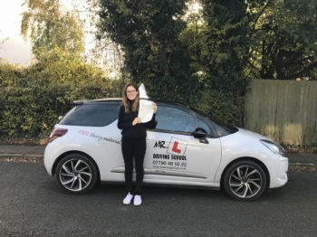 Congratulations to Gabriella from Girton who passed in Cambridge on the 10-11-17 after taking driving lessons with MRL Driving School