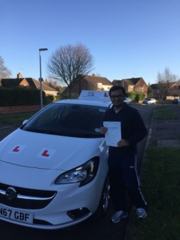 Congratulations to Anu from Cambridge who passed on the 8-12-17 after taking driving lessons with MRL Driving School Having failed a few tests in NIreland we're pleased to say Anu passed at his 1st attempt with us here