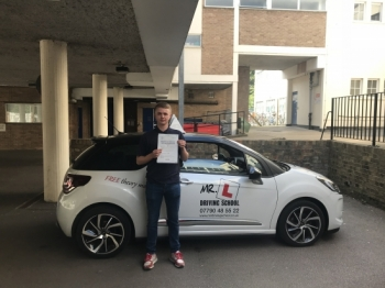 Congratulations to Charley Kimber who passed 1st time in Cambridge on the 12-6-18 after taking driving lessons with MR.L Driving School.