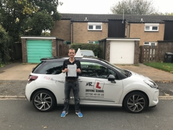 Congratulations to Stewart Summerlee from Cambridge who passed on the 13-10-17 after taking driving lessons with MRL Driving School