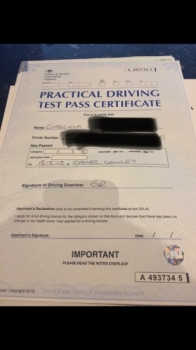 Congratulations to Gabriela from Cambridge who passed 1st time on the 18-8-18. Gabriela came to us with a test booked and already a very skilled learner driver but we are pleased we were able to make some adjustments and increase her understanding to help her achieve driving test standard.