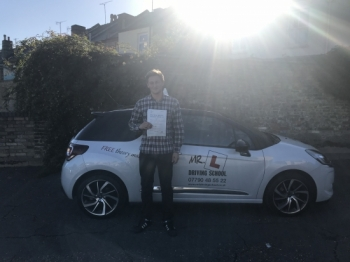 Congratulations to Ben Swygart from Ely who passed his driving test in Cambridge on the 6-10-17 after taking driving lessons with MRL Driving School