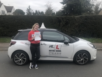 A MASSIVE well done and congratulations to Lucy-Marie Bell who went and passed her driving test not only 1st time but with ZERO driving faults! Lucy passed in Cambridge on the 22-3-18.