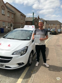 Congratulations to Jimmy McMurdo from Newmarket who passed in Cambridge on the 8-6-18 after taking driving lessons with MR.L Driving School. Jimmy had been unsuccessful in the past but we're chuffed to say it was a first time pass with us.
