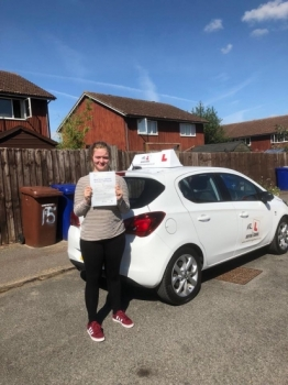 Congratulations to Shannon Roper from Newmarket who passed 1st time in Cambridge with just 1 minor fault on the 1-8-18 after taking driving lessons with MR.L Driving School.