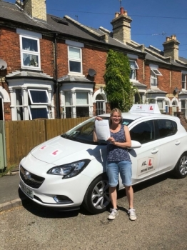 Congratulations to Lynsey Stephenson from Newmarket who passed 1st time in Cambridge on the 24-7-18 after taking driving lessons with MR.L Driving School.
