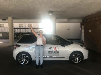 Congratulations to Vicky Wilson who passed 1st time in Cambridge on the 22-6-18 after taking driving lessons with MR.L Driving School.