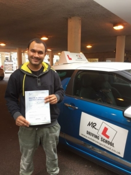 Congratulations to Cody Henry from Cambridge who passed on the 19-10-17 Having failed his test previously with a different driving school we're pleased to say he passed at the 1st attempt using MRL Driving School