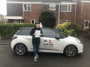 Congratulations to Mitchell Moore from Newmarket who passed 1st time in Cambridge on the 9-4-18 after taking driving lessons with MR.L Driving School.