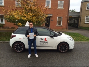Congratulations to Ben Hallewell from Ely who passed in Cambridge on the 19-10-15 after taking driving lessons with MRL Driving School