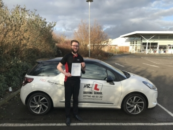 Congratulations to Daniel Smyth from Tuddenham who passed in Cambridge on the 1-12-17 Dan came to us having failed his test previously with a different school We're are pleased to say Dan passed 1st time with us