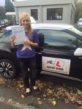 Congratulations to Dace Suduka from Waterbeach who passed 1st time in Cambridge on the 16-11-15 after taking driving lessons with MRL Driving School