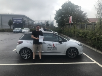 Congratulations to Jack Smith from Newmarket who passed 1st time in Cambridge on the 23-8-18 after taking driving lessons with MR.L Driving School.