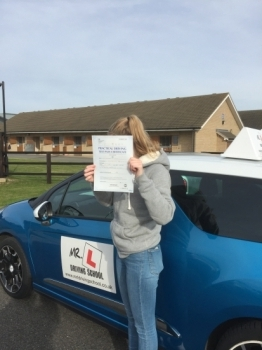 Congratulations to Shannon Mitchell from Newmarket who passed in Cambridge on the 30-10-17 after taking driving lessons with MRL Driving School