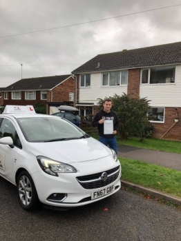 Congratulations to Kia Mousley from Bury St Edmunds who having failed a previous test in the past passed 1st time with MR.L Driving School on the 30-10-18.
