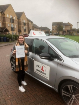 Congratulations to Amelia Aubrey who passed in Cambridge on the 1-11-18 after taking driving lessons with MR.L Driving School.