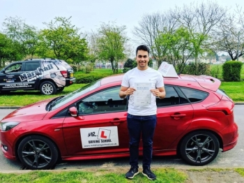 Congratulations to Justin Squibb from Cambridge who passed on the 8-4-19 after taking driving lessons with MR.L Driving School.