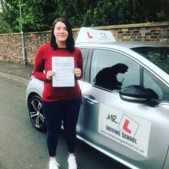 Congratulations to Caitlin Bright from Soham who passed 1st time in Cambridge on the 3-5-19 after taking driving lessons with MR.L Driving School.