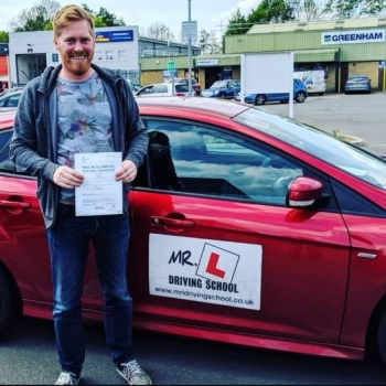 Congratulations to Phillip Dexter from Cambridge who passed 1st time on the 7-5-19 after taking driving lessons with MR.L Driving School.