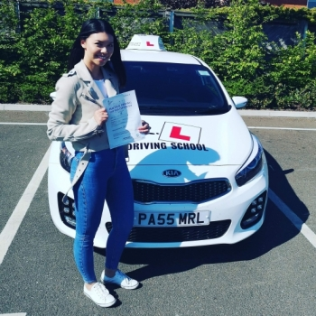 Congratulations to Desire from Newmarket who passed on the 14-5-19 in Cambridge after taking driving lessons with MR.L Driving School. Having been unsuccessful on a number of occasions we´re delighted to say Desire passed at the 1st attempt with us!