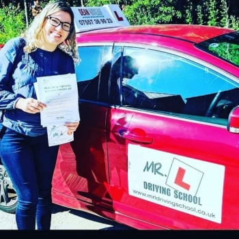 Congratulations to Lilian from Newmarket who passed in Cambridge on the 3-7-19 after taking driving lessons with MR.L Driving School.