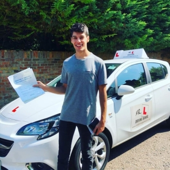 Congratulations to Jonathan Nicholson from Newmarket who passed in Cambridge on the 23-7-19 after taking driving lessons with MR.L Driving School.