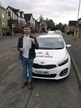 Congratulations to Sam Uff from Newmarket who passed in Cambridge after taking driving lessons with MR.L Driving School.