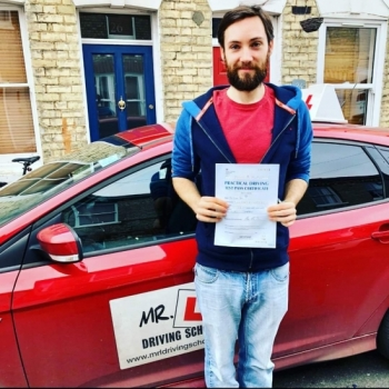 Congratulations to Osian from Cambridge who passed on the 11-1-20 after taking driving lessons with MR.L Driving School.