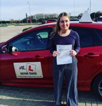 Congratulations to Francoise Dyer from Burwell who passed on the 14-2-20 in Cambridge after taking driving lessons with MR.L Driving School.