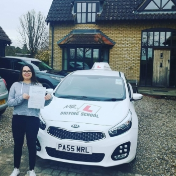 Congratulations to Becca Lester from Burwell who passed in Cambridge on the 18-2-20 after taking driving lessons with #mrldrivingschool