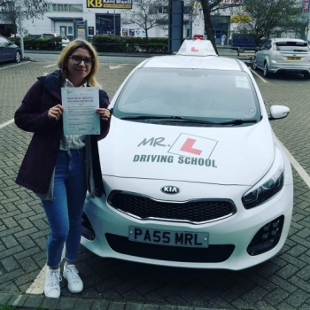 Congratulations to Dominika who passed first time in Cambridge on the 21-2-20 with just 3 driving faults after taking driving lessons with #mrldrivingschool