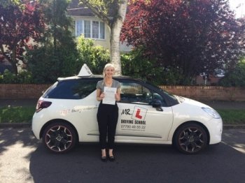 Congratulations to Fran from Cambridge who passed 1st time on the 28-8-15 after taking driving lessons with MRL Driving School