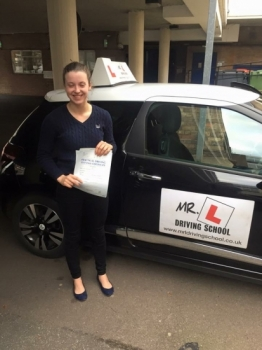 Congratulations to Georgia Smith from Newmarket who passed 1st time in Cambridge on the 12-11-15 after taking driving lessons with MRL Driving School
