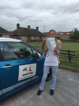 Congratulations to Theresa from Littleport who passed her driving test in Cambridge on the 5-6-17 after taking driving lessons with MRL Driving School
