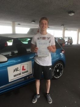 Congratulations to Bradly Pettitt from Newmarket who passed 1st time in Cambridge with just 2 minor faults on the 6-7-17 after taking driving lessons with MRL Driving School