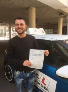 Congratulations to Ekrem Babur from Soham who having failed his test with another driving school sailed through at the 1st attempt with MRL Driving School Ekrem passed in Cambridge on the 12-7-17 Well done to both Ekrem and his driving instructor Jayne Hardy