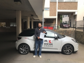 Congratulations to Kareem from Newmarket who passed 1st time in Cambridge on the 4-8-17 after taking driving lessons with MRL Driving School