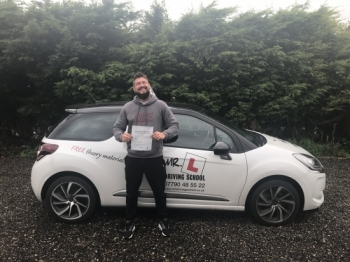 Congratulations to Jaco Waldeck from Exning who passed 1st time in Cambridge on the 9-8-17 after taking driving lessons with MRL Driving School