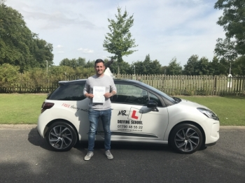 Congratulations to Steve King from Newmarket who passed 1st time in Cambridge on the 14-8-17 after taking driving lessons with MRL Driving School