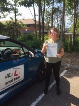 Congratulations to Jasmine Russell who passed in Cambridge on the 11-8-17 after taking driving lessons with MRL Driving School