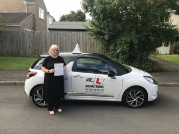 Congratulations to Susan Rees from Cambridge who passed on the 15-8-17 after taking driving lessons with MRL Driving School