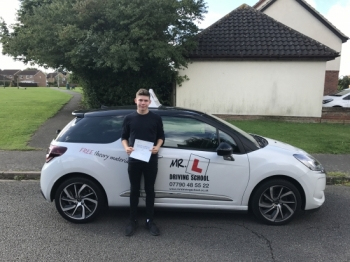 Congratulations to Toby Swann from Milton who passed 1st time in Cambridge on the 18-8-17 after taking driving lessons with MRL Driving School