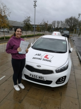 Congratulations to Grace Atyes who passed 1st time in Cambridge on the 29-11-18 after taking driving lessons with MR.L Driving School.