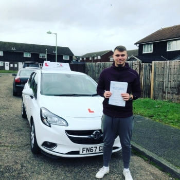 Congratulations to Constantin Lache from Newmarket who passed first time in Cambridge on the 3-1-19 after taking driving lessons with MR.L Driving School.
