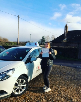 Congratulations to Katie Crowe from Stretham who passed in Cambridge on the 9-1-19 after taking driving lessons at MR.L Driving School.